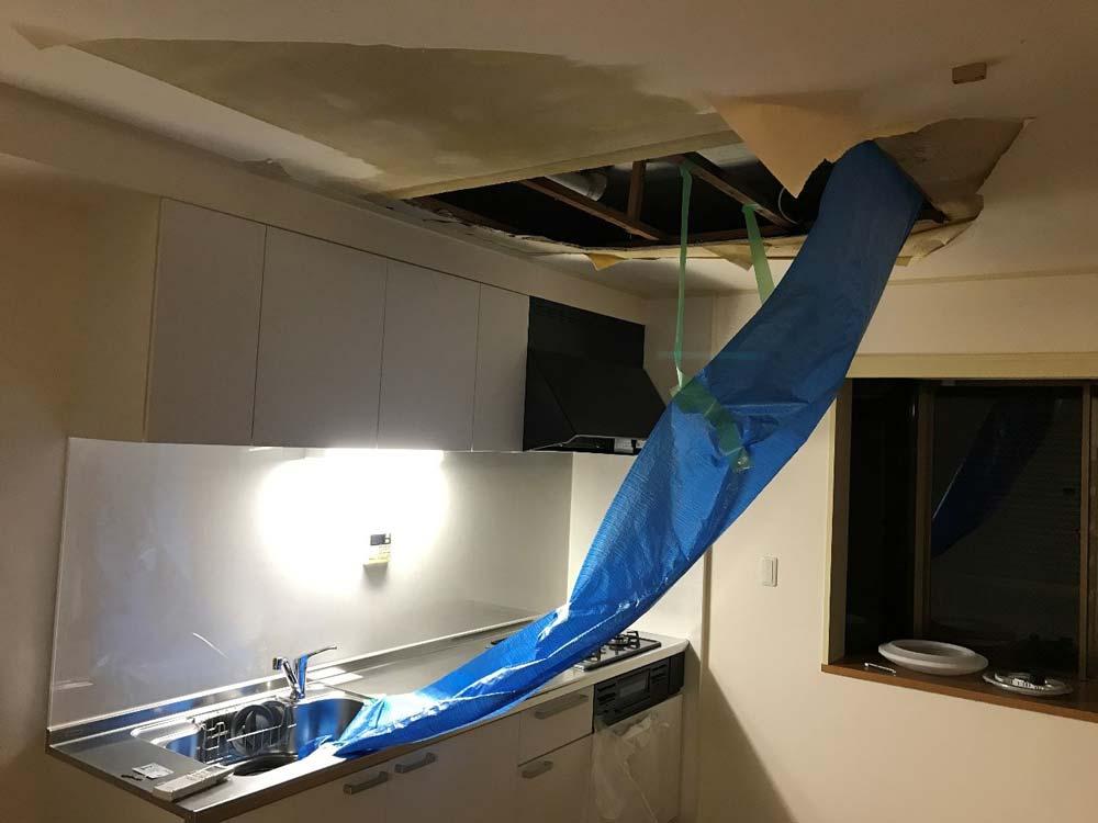 天井から漏水